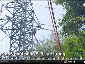 Video: Người phụ nữ leo lên đỉnh cột điện cao thế ở TP Thủ Đức được giải cứu như thế nào?