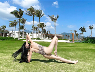 Người đẹp Biên Hoà, hot girl Nóng cùng World Cup mặc bikibi tập yoga cực gợi cảm