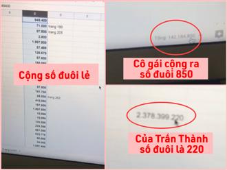 Nhiều netizen vẫn ngồi 4 tiếng chép tay, cộng lại sao kê của Trấn Thành dù Vietcombank đã lên tiếng