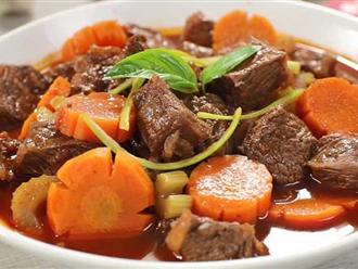 Hầm thịt bò thả thêm thứ này vào thịt nhanh nhừ, thơm ngon mềm tan trong miệng